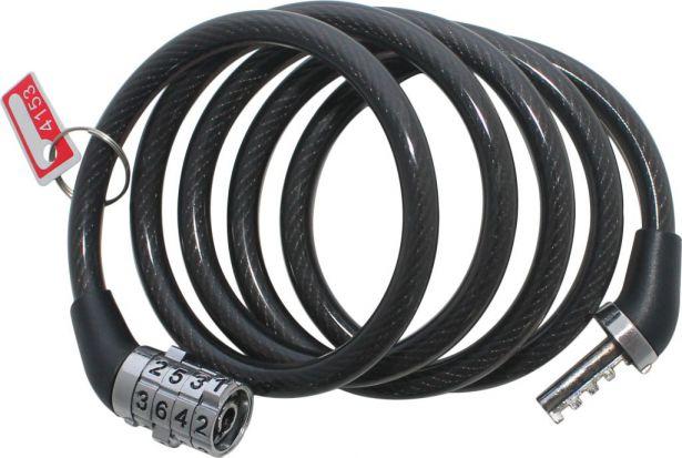 Lock - Combination, Wire Braid