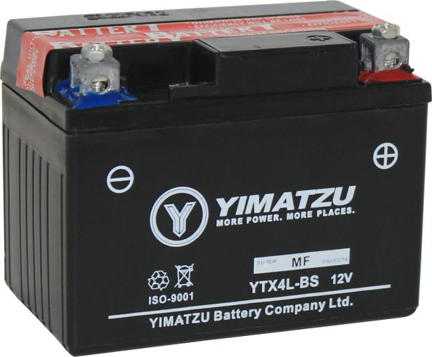 Battery - GTX4L-BS Yimatzu, AGM, Maintenance Free