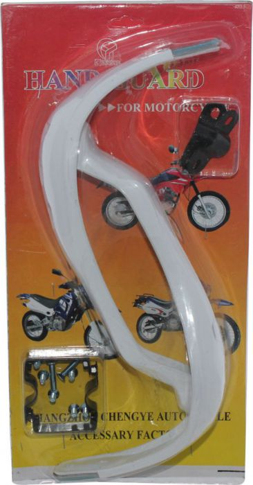 Hand Guard - Motorcycle, ATV, White