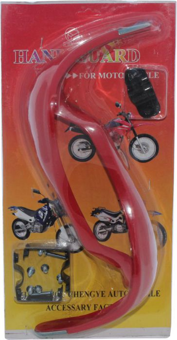 Hand Guard - Motorcycle, ATV, Red