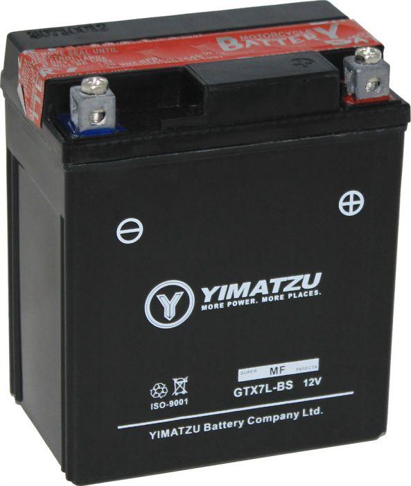 Battery - GTX7L-BS Yimatzu, AGM, Maintenance Free