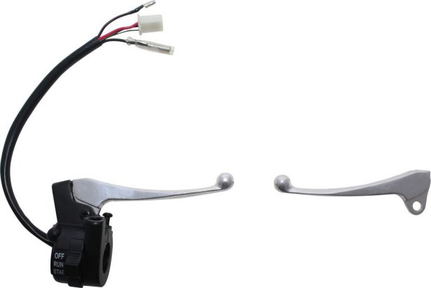 Brake & Clutch Lever Set - Yamaha PW50, Throttle Housing and Control Switch