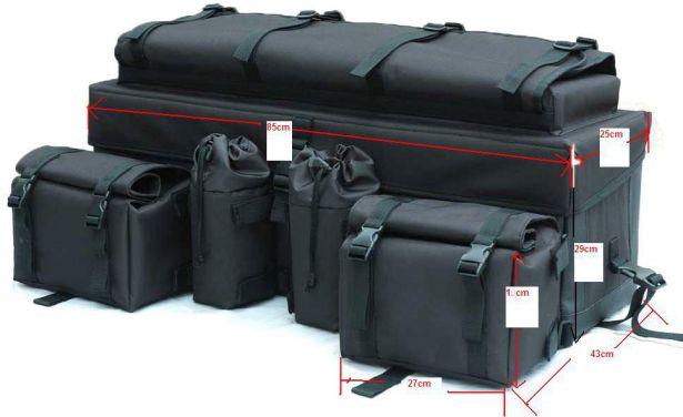 ATV Rack Bag - Multi-Level Version 1, Black