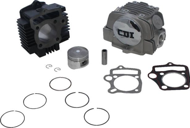 Top End Assembly - 125cc, Air Cooled, Complete Top End Assembly