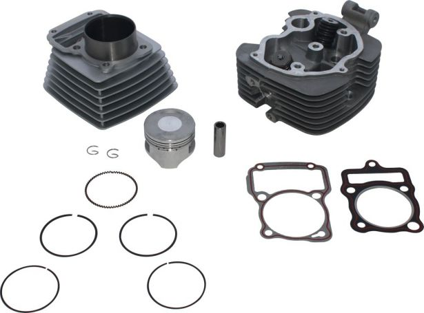 Top End Assembly - 200cc, Air Cooled, Complete Top End Assembly