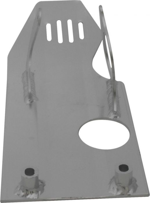 Crash Plate - Skid Plate, Aluminum, 50cc to 140cc, Dirt Bike, Asymmetrical