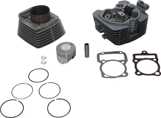 Top End Assembly - 250cc, Air Cooled, Complete Top End Assembly