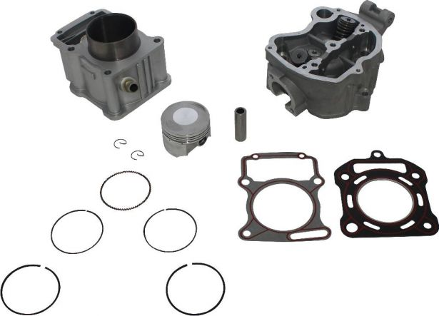Top End Assembly - 250cc, Liquid Cooled, Complete Top End Assembly