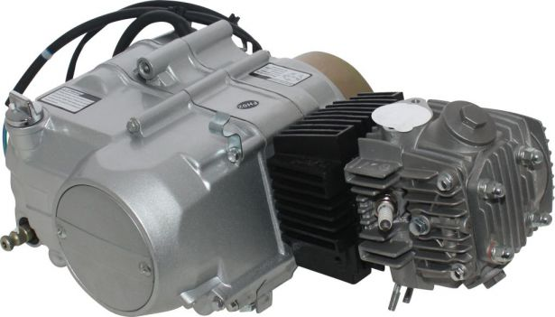 Complete Engine - 110cc Horizontal Engine, Semi-Automatic, Kick Start