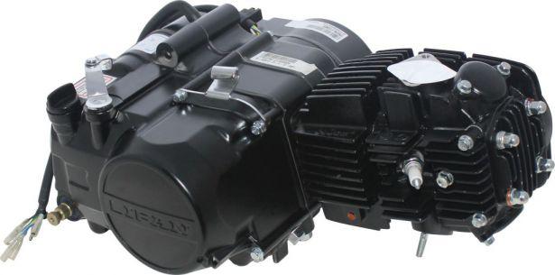 Complete Engine - LIFAN 140cc Horizontal Engine, Manual Shift, Kick Start