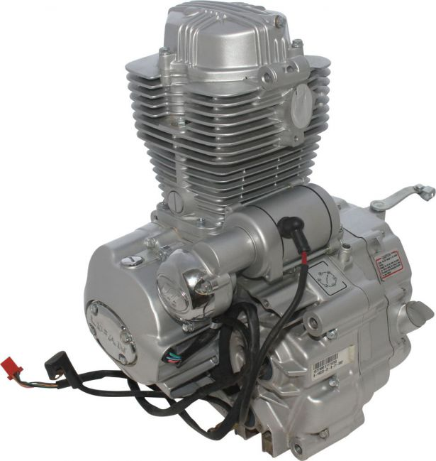 Complete Engine - Vertical 250cc Engine, Manual Shift, Electric Start