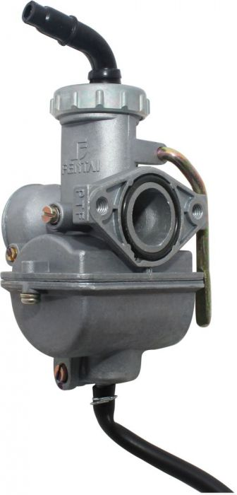 Carburetor - 20mm, Manual Choke, Aluminum, Bent Head