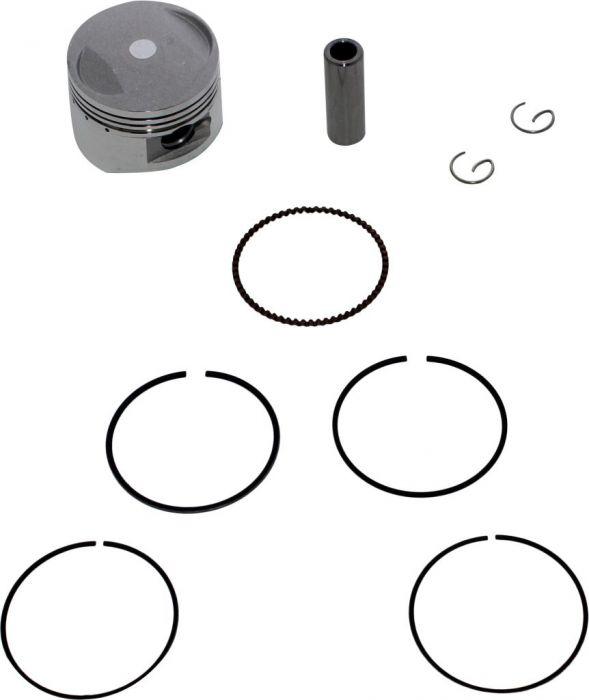 Piston and Ring Set - 125cc to 140cc, 54mm, 14mm (9pcs)