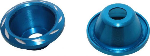 Fork Cups - CNC, Blue, 2pcs