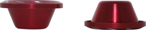 Fork Cups - CNC, Red, 2pcs