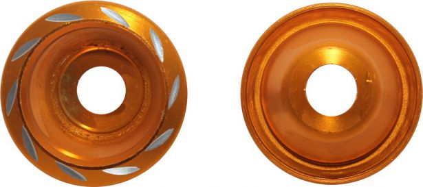 Fork Cups - CNC, Gold, 2pcs
