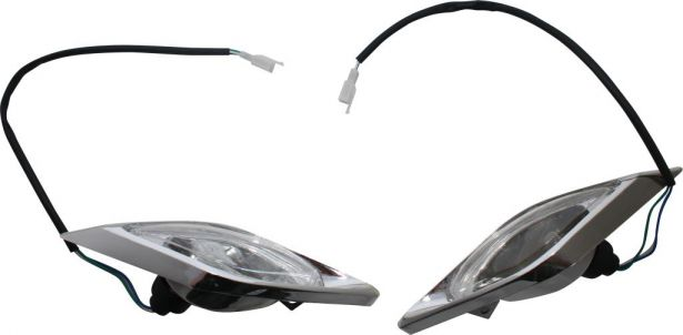 Front Light - 50cc to 250cc, ATV, Racing Style, Set (2pcs)