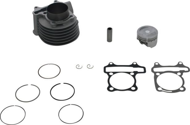 Cylinder Block Assembly - GY6, 125cc to 150cc, 58.5mm, 12pc