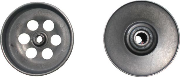 Clutch - Drive Pulley with Clutch Bell, Yamaha, JOG 90, 2 Stroke, 16 Spline