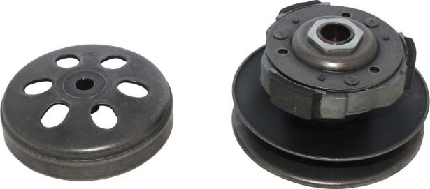 Clutch - Drive Pulley with Clutch Bell, GY6, 150cc, 19 Spline