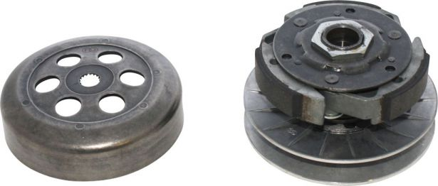 Clutch - Drive Pulley with Clutch Bell, Yamaha, Majesty 250, 16 Spline