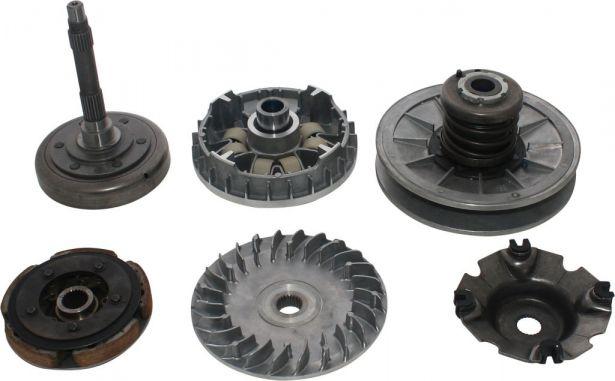 Clutch - Complete Assembly, Torque Convertor, Variator, Clutch Weight, Linhai, 520cc, 550cc, 600cc