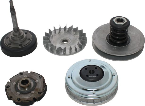 Clutch - Complete Assembly, Torque Convertor, Variator, Clutch Weight, Yamaha, Hisun, 400cc