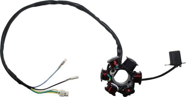 Stator - Magneto Coil, C100-6, 5 Wire