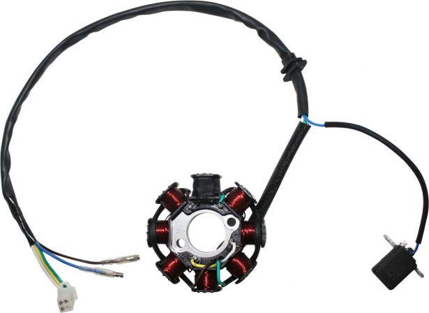 Stator - Magneto Coil, CG8, 5 Wire