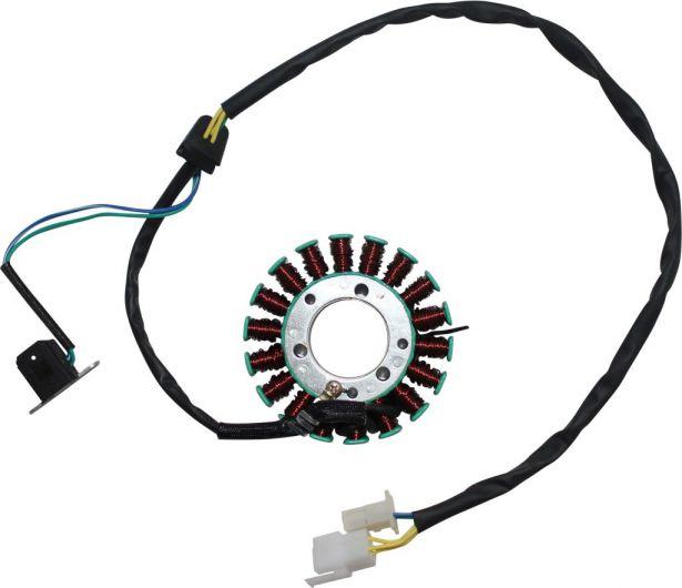 Stator - Magneto Coil, 18G, 5 Wire