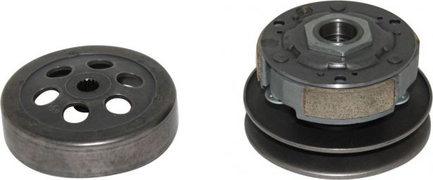 Clutch - Drive Pulley with Clutch Bell, Yamaha, 125cc, 16 Spline