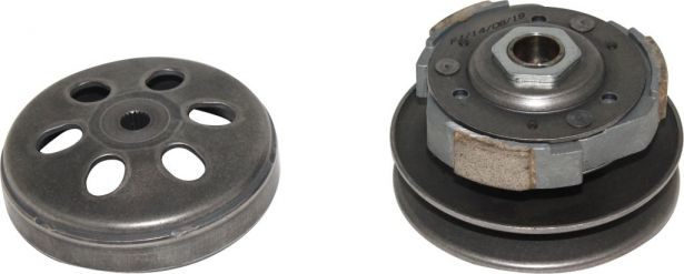 Clutch - Driven Pulley with Clutch Bell, Honda, 125cc, 19 Spline