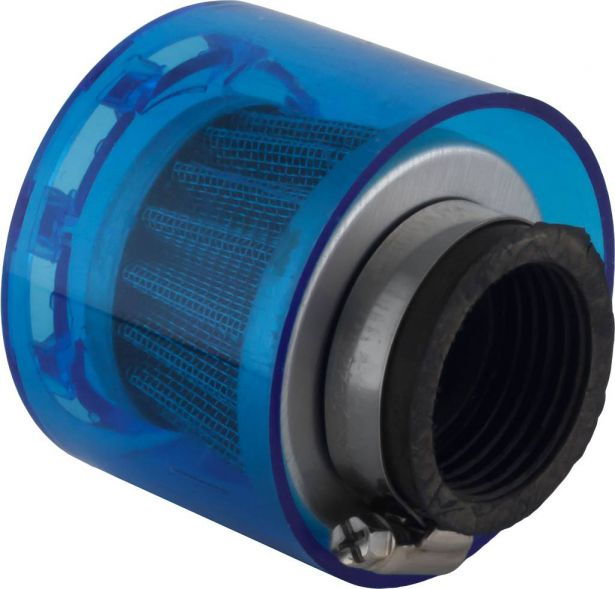 Air Filter - 35mm, Conical, Waterproof, Straight, Yimatzu Brand, Blue