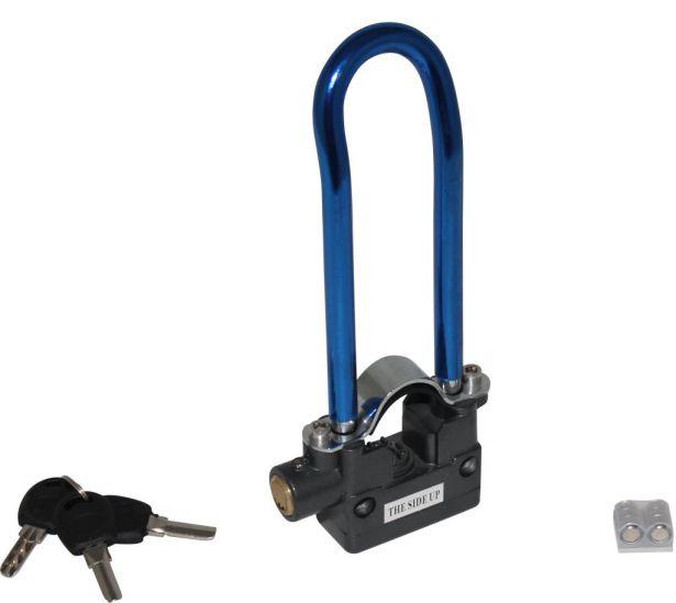 Lock - 13mm U-Lock, 70X233mm, Alarm, Blue - *** CURRENTLY RED ***