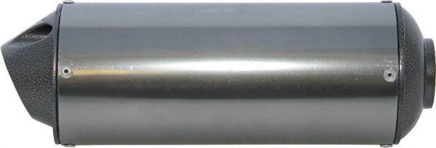 Muffler - 50cc to 250cc, Chrome