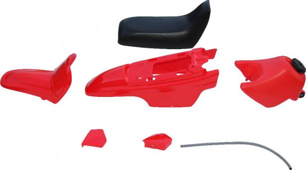 Plastic Set - PW50, Yamaha, Red (7 pcs)