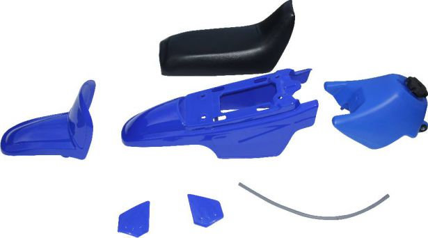 Plastic Set - PW50, Yamaha, Blue (7 pcs)