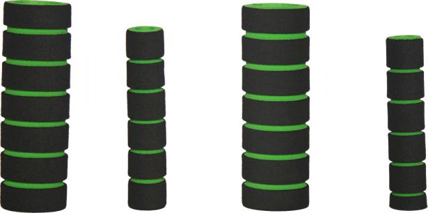 Hand Grips - Foam, Green, 4pc Set