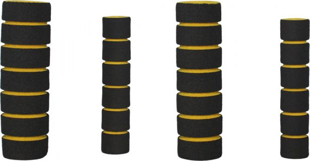 Hand Grips - Foam, Yellow, 4pc Set