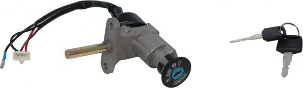 Ignition Key Switch - Yamaha Cygnus, SPT 150, 3 pin Male, Steering Lock