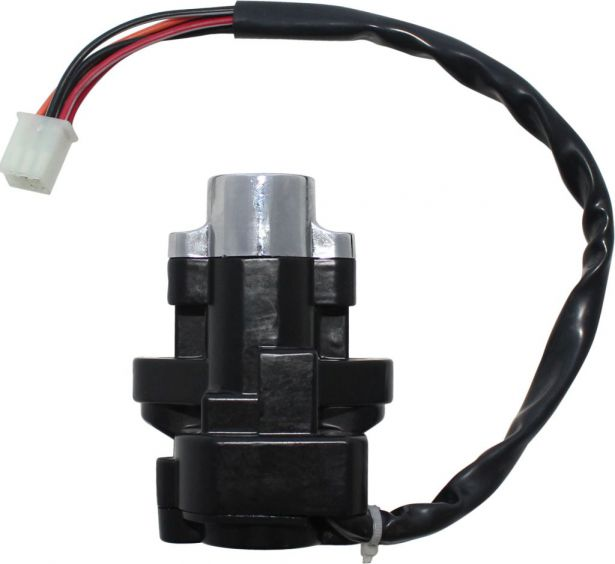 Ignition Key Switch - 6 Wire, 6 pin Male, Metal, Steering