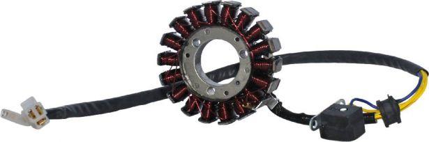 Stator - Magneto Coil, 250cc, 260cc, 300cc, 5 Wire