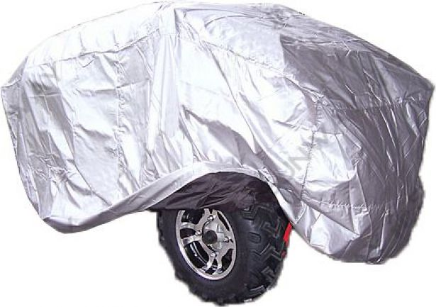 Universal Cover - ATV, Motorcycle & Scooter, Silver, Large