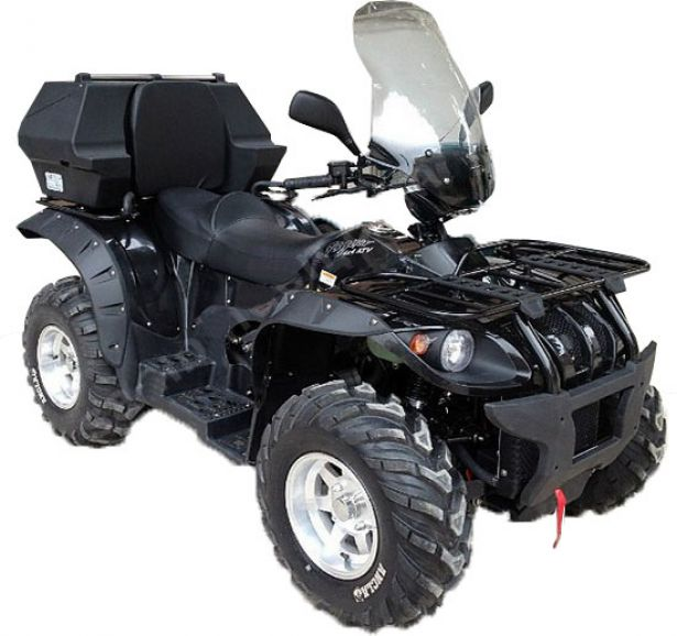 ATV Windshield - Handle Bar Mount, Full Rise, 65cm