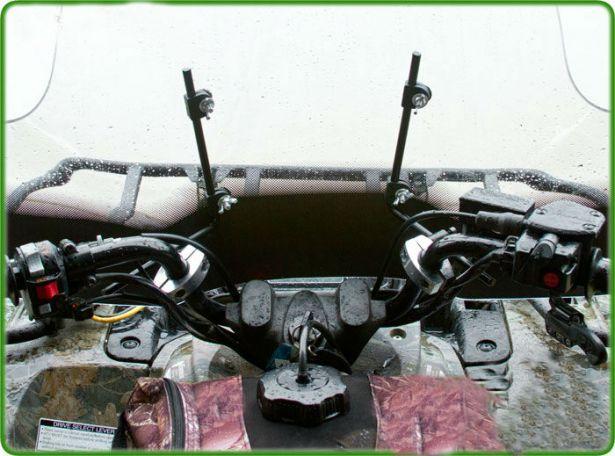 ATV Windshield - Handle Bar Mount, Double Wide, 92cm