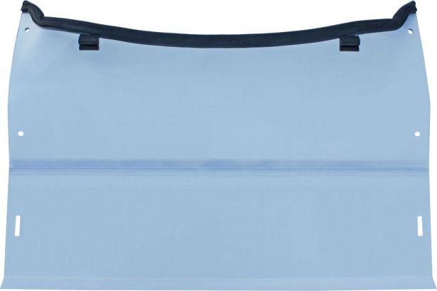 UTV Windshield & Clamps - Hisun, 2-Stage, Full Cover / Half Cover Adjustable, 127cm