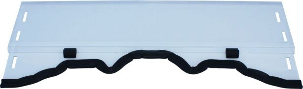 UTV Windshield & Clamps - Hisun, 2-Stage, Full Cover / Half Cover Adjustable, 127cm