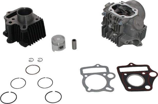 Top End Assembly - 50cc, Air Cooled, Complete Top End Assembly