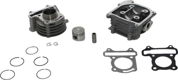 Top End Assembly - GY6, 50cc, Air Cooled, Complete Top End Assembly