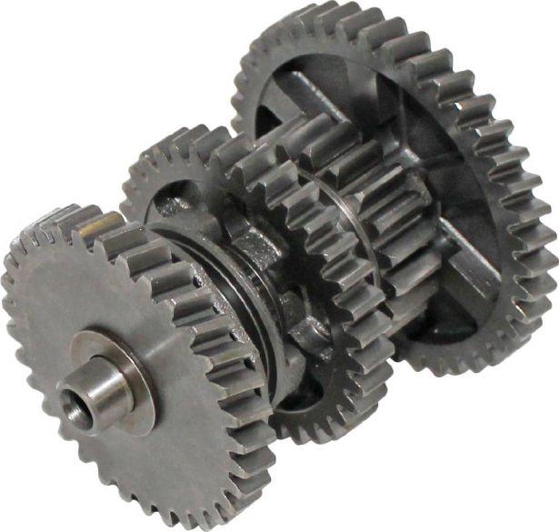 Counter Shaft - Secondary Shaft Gear Set, CF Moto, Hammerhead, Joyner, 172MM, 250cc